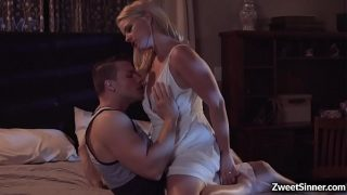 Alluring blonde MILF Lisey Sweet wants to taste and fuck a tasty young dick and her stepson Codey Steele is a perfect match for her hungry pussy.