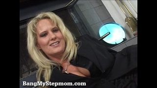 Blonde Mature Rides Her Stepsons Big Cock