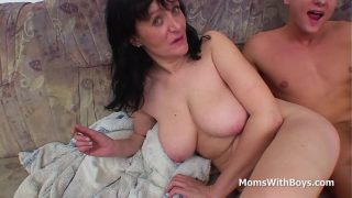 Busty Mother Fucking Sons Huge Cock