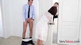 fucking step mature mom in her wedding dress hot pussy fuck