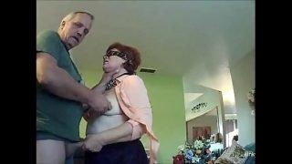 granny slave Nancy 68 worships my cock