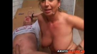 Mature Amateur Wife Homemade Anal with Facial Cumshot pain