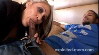 Mature Latina Mom banging y. black cock in Interracial Amateur Video