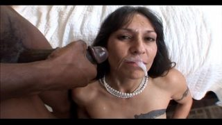 Mature milf bangs black cock and gets a big facial in Hot mature Mom Pussy fuck