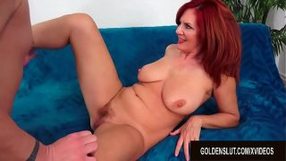 Mesmerizing Older Redhead Andi James Escorts Her Man into Mature Sex Heaven
