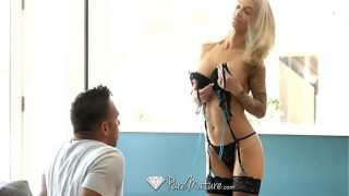 PureMature Mature inked up Synthia Fixx anal fuck with facial
