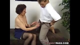 Surprise Threesome With A German Granny