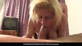 XXX OMAS – German horny granny fucks two dicks in MMF threesome